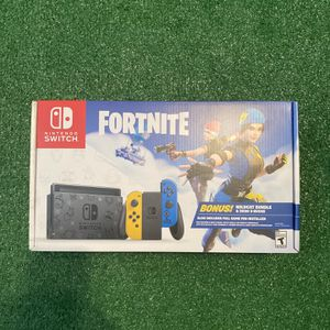 Nintendo Switch Fortnite Edition with Yellow and Blue Joy-Con for Sale in Sunrise, FL