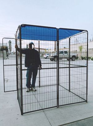 New 72 inch tall x 32 inches wide each panel x 8 panels heavy duty exercise playpen with sun shade tarp cover fence safety gate dog cage crate kennel for Sale in Los Angeles, CA
