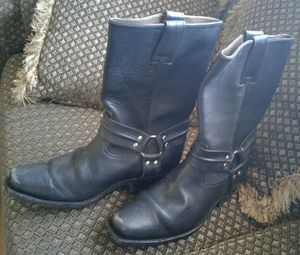 100% genuine strong leather,motorcycle boots for Sale in Santa Monica, CA