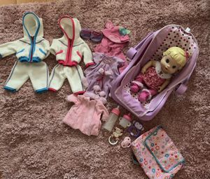 Baby doll with clothes and accessories for Sale in Las Vegas, NV