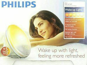 Philips HF3520/60 Wake-Up Light Alarm Clock with Colored Sunrise Simulation for Sale in Las Vegas, NV
