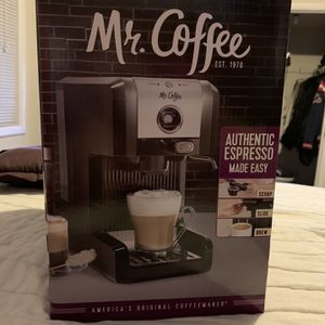 BRAND NEW MR.COFFEE ESPRESSO AND CAPPUCCINO MAKER WITH MILK FROTHER for Sale in Laurel, MD