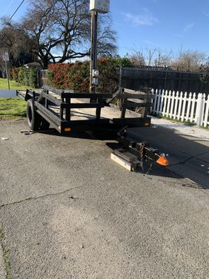 Heavy duty trailer 7x16 with title 1200 obo for Sale in Rio Linda, CA
