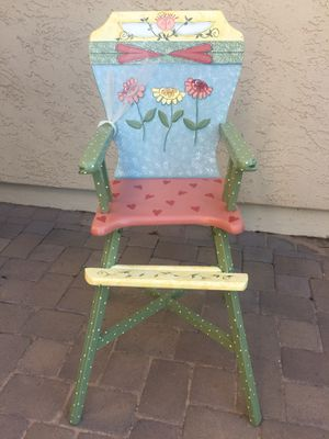 Antique One of a Kind Decorated High Chair for Sale in Chandler, AZ