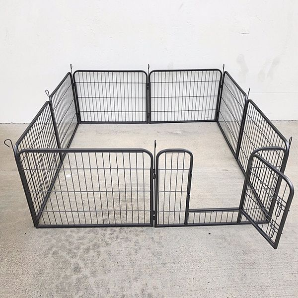 """(NEW) $70 Heavy Duty 24"""" Tall x 32"""" Wide x 8-Panel Pet Playpen Dog Crate Kennel Exercise Cage Fence Play Pen"""