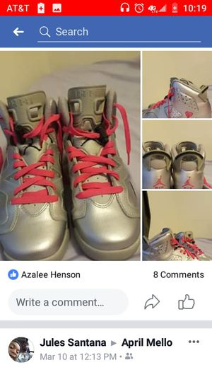 Air Jordan sixes Valentine's day edition size 6.5 for Sale in Richland, MO