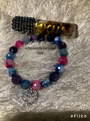 Focus Blend with Cotton Candy Agate Lava Bracelet for Sale in Long Beach, CA