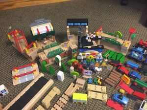 Wooden train set with Thomas the train and friends. for Sale in Longmont, CO