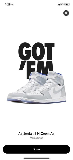 Air Jordan 1 Zoom High Racer Blue size 11.5 for Sale in Bala Cynwyd, PA