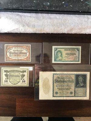 Older foreign bills for Sale in Turlock, CA