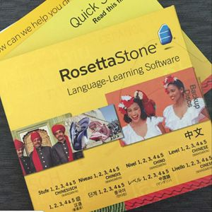 Rosetta Stone Learning Chinese 5 Disc Set with Headphones PC or Mac for Sale in City of Industry, CA