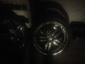 20 inch Lexus rims and tires with two extra falcon like new tires that go with it for Sale in Helper, UT