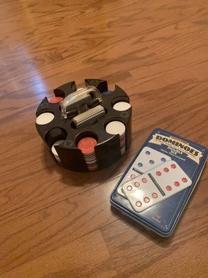 Poker set and Dominos for Sale in Tucker, GA