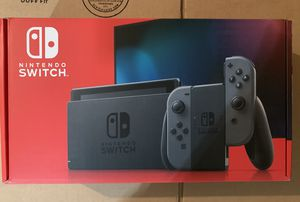 Nintendo Switch With Grey Joy Controllers for Sale in Alpharetta, GA