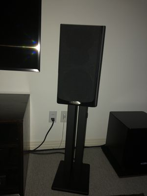 Polk Audio LSiM 703 Bookshelf Speakers and LSiM 704c Center Channel for Sale in Austin, TX