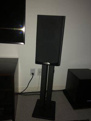 Polk Audio LSiM 703 Bookshelf Speakers and LSiM 704c Center Channel for Sale in Austin, TX