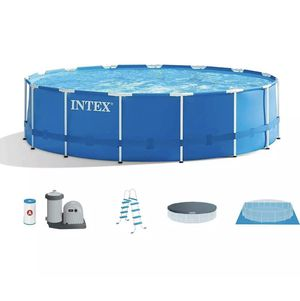 Intex 18ft x 48in Metal Frame Prism Pool COMES WITH EVERYTHING IN PICTURE for Sale in Middle River, MD