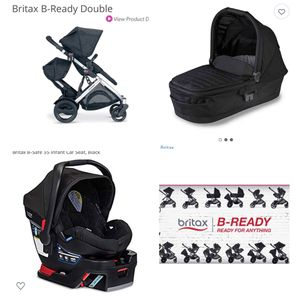 BRITAX DOUBLE STROLLER BUNDLE EVERYTHING INCLUDED for Sale in Riverside, CA
