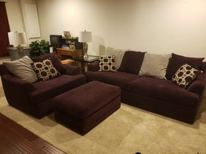 Couch Oversized Chair Ottoman Set for Sale in Germantown, MD