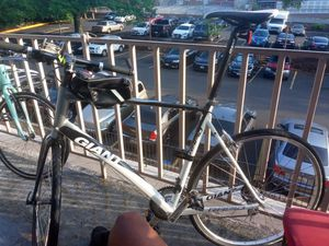 It's a giant XL Mountain Road Bike for sale nothing wrong with it but the front and back tire flat everything else is good on it for Sale in Bowie, MD