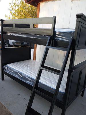 Bunk bed 2 twin black IKEA for Sale in Phoenix, AZ