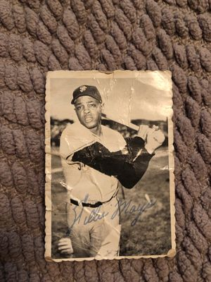 Willie Mays signed baseball card for Sale in Brea, CA