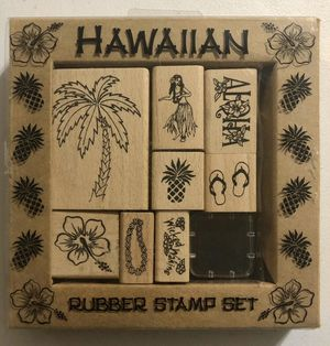 Hawaiian Wood Rubber Stamp Set for Sale in Rives Junction, MI