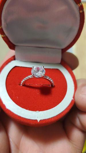 14 k white gold 2.5 ct lab created diamond for Sale in La Habra, CA