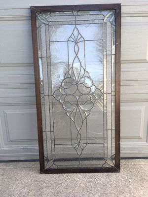 Antique Lead and Frosted Glass Panel for Sale in Santa Ana, CA