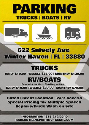 Truck Parking Grand Opening! for Sale in Wahneta, FL
