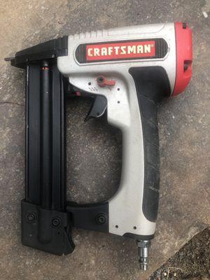 Used Craftsman 18gauge 3/8in Brad nail gun air for Sale in Little Rock, AR
