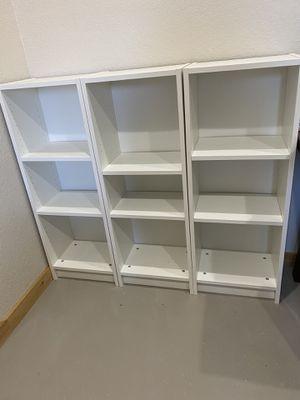 Set of 3 Billy Bookshelves from IKEA for Sale in Granger, TX