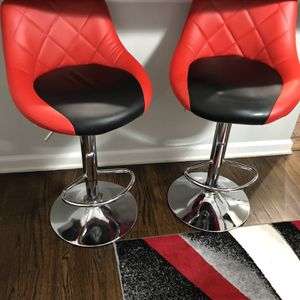 Red/Black Bar Stools Multi Use for Sale in Short Hills, NJ