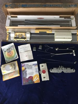 Knitting machine with ribbing attachment! for Sale in Lynchburg, VA