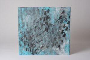 """Acrylic Abstract art on wood panel- 21x20"""" for Sale in Smyrna, GA"""