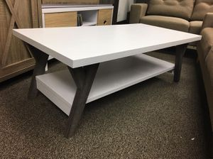 June Coffee Table, White and Distressed Grey, SKU # 161834CT for Sale in Norwalk, CA