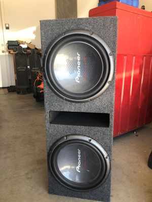 Dual 12in Pioneer Subs in Ported Box for Sale in Apache Junction, AZ