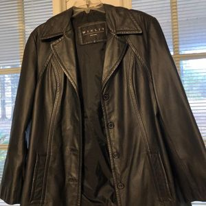 Black Leather Winlit jacket for Sale in Pineville, LA