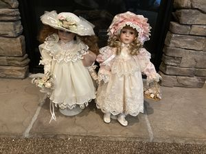 Two Porcelain Antique Dolls for Sale in Fontana, CA