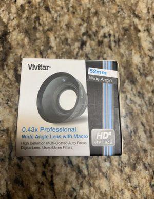 New! Vivitar .43 wide angle lens for Sale in Arlington, TX