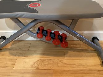 Flat Utility Bench For Gym Workout/ Exercise - Comes With Dumbbells for Sale in Renton,  WA