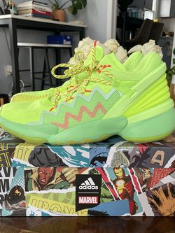 Donovan Mitchell's Marvel x Adidas D.O.N Issue #2 Spidey-Sense Sneaker Size 11 for Sale in Roselle,  NJ