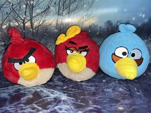 Angry Birds 3 plush set for Sale in Bellflower, CA