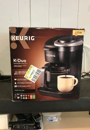 Keurig K Duo Essentials Black Coffee Maker for Sale in Ewing Township, NJ