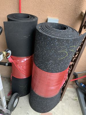 Gym Mat Rubber 1/2 inch 4ft for any size longer oat $2.50 the square foot for Sale in Lynwood, CA