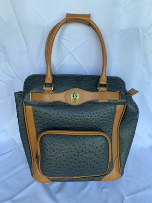 Adrienne Vittadini faux ostrich bag for Sale in Royersford, PA