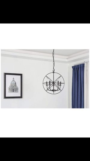 Brand new great for holidays Bronze Ceiling Chandelier 5 Lights Metal Hanging Fixture Christmas lights season decor for Sale in Fullerton, CA