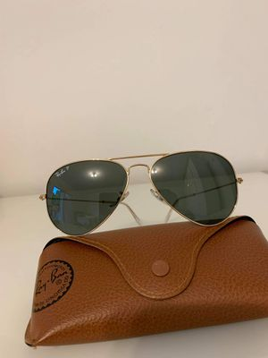 Brand new Ray Ban sunglasses aviator classic unisex gold frame. Green lense for Sale in HALNDLE BCH, FL