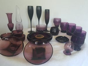 Amethyst Glass collection for Sale in Portland, OR