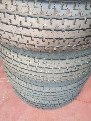 Set 4 Tires used ST235 80 R16. 80% tread good for Sale in Hesperia, CA